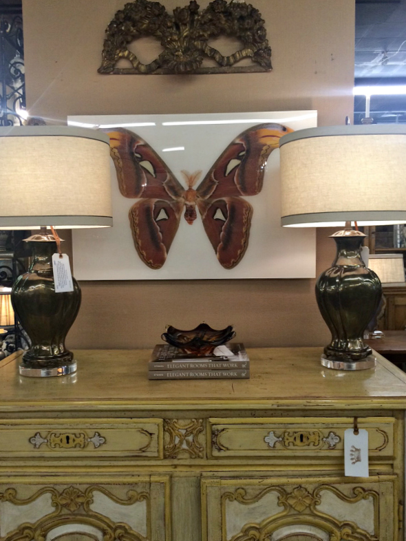 Butterfly and antiques and decor at MAI